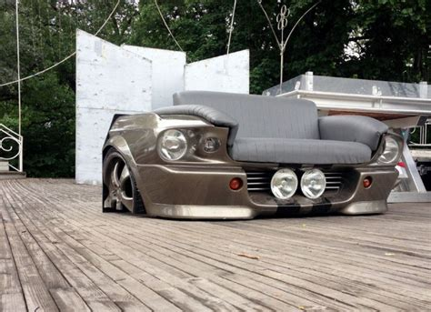 ford mustang couch man turns ford mustang into a couch 24 pics