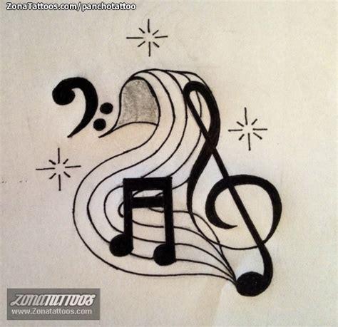imagenes de tatuajes de notas musicales pin pin de notas musicales tatuajes musica estrellas y on