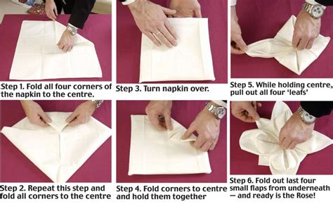 How To Do Napkin Origami - wedding napkin folding hairstyles