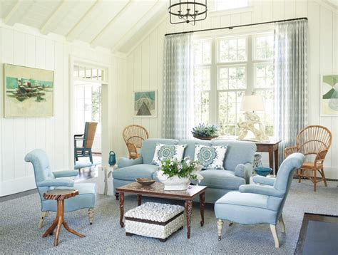 blue white living room phoebe howard house of turquoise
