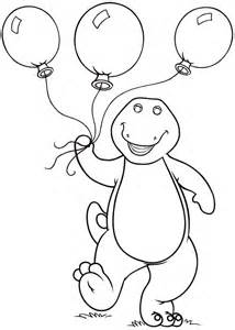 printable barney coloring pages coloring