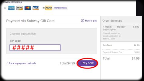 Twitch Gift Card - how to redeem subway card for subscription