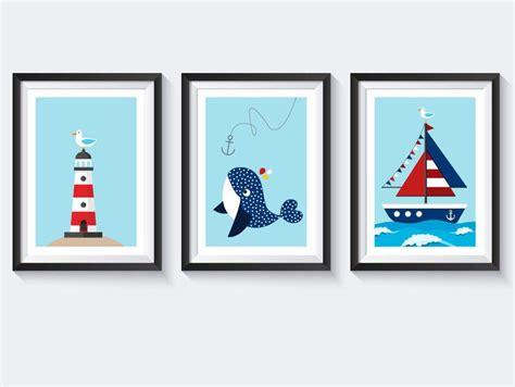 bild kinderzimmer segelboot bilder a4 bilderset kinderzimmer poster maritim