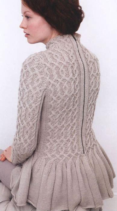 peplum knitting patterns cabled peplum sweater knitting knitting free