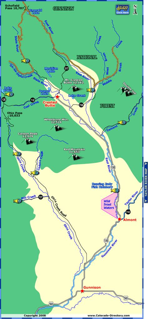 fly fishing colorado map my east river fishing map colorado vacation directory