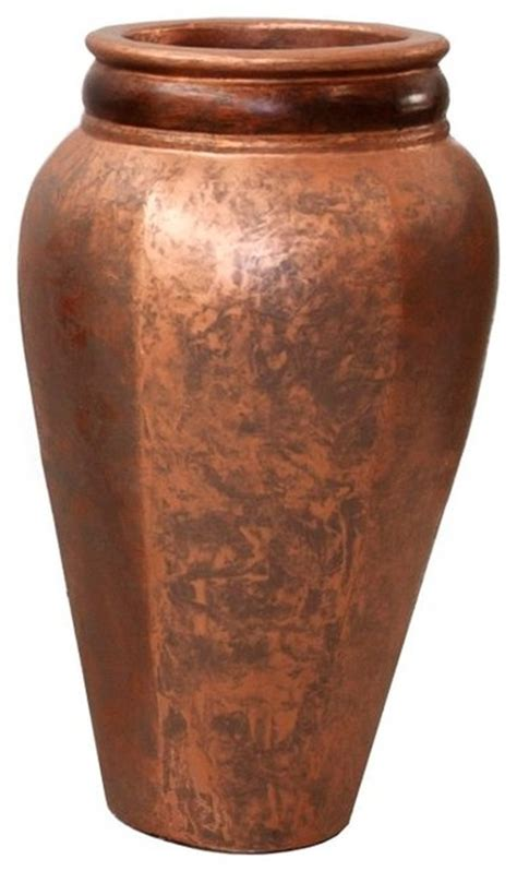 Large Floor Vases Montecito Copper Floor Vase Large
