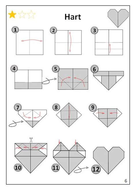 bootje in papier vouwen hartje origami vouwen jouwweb be