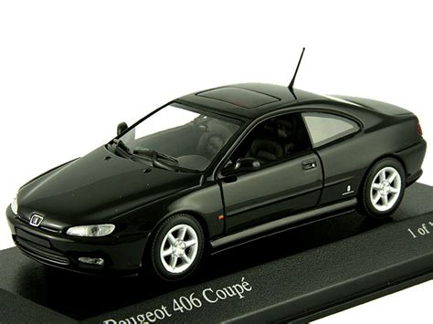 peugeot 406 coupe black масштабная модель 1 43 peugeot 406 coupe 1997 black