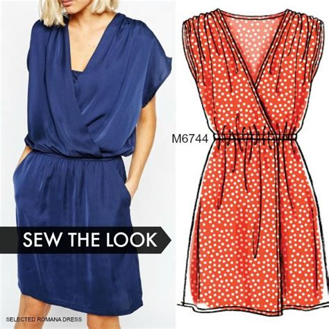 sewing pattern on pinterest for the most beginner friendly and cutest wrap dress