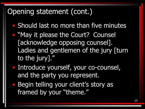 exles themes for opening statements ppt mock trial the basics powerpoint presentation id