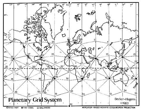 grid pattern of earth vile vortices