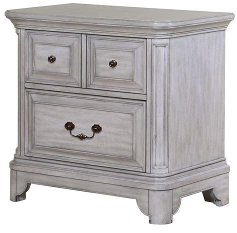 Grey Wood Nightstand weathered grey wood drawer nightstand from
