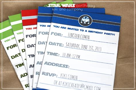 wars birthday invitation template a wars birthday company