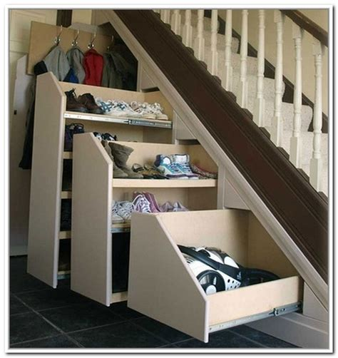 understairs shoe storage the stairs storage closet ideas home design ideas