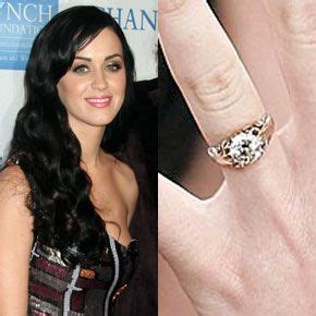 katy perry s engagement ring from russell brand is a three carat solitaire round diamond by