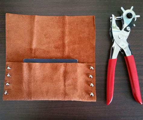 diy no sew leather travel pouch altamonte family