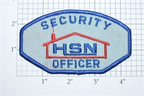 Network Security Officer by Hsn Home Shopping Network Security Officer Iron On Vintage Shoulder Patch For