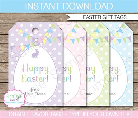 easter gift tags easter egg hunt printable template