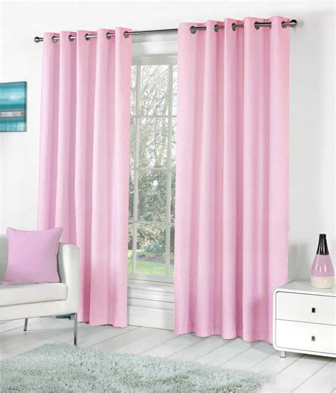 Baby Pink Curtains Pindia Set Of 4pc Plain Eyelet Window Curtains Baby Pink Buy Pindia Set Of 4pc Plain Eyelet