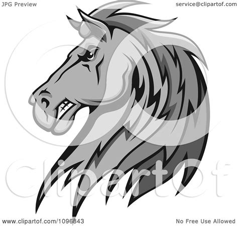 clipart mare clipart gray stallion royalty free vector