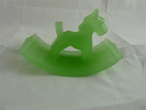 vintage art deco houze glass ink blotter scottie dog