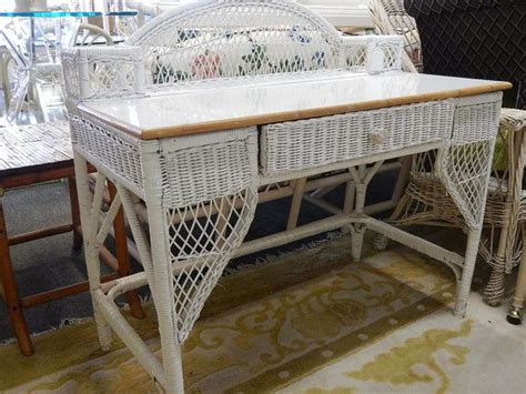 small wicker vanity chair shabby chic white wicker desk vanity chair ideas for