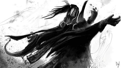 wallpaper dota 2 black rubick dota 2 black and white art wallpapers hd download