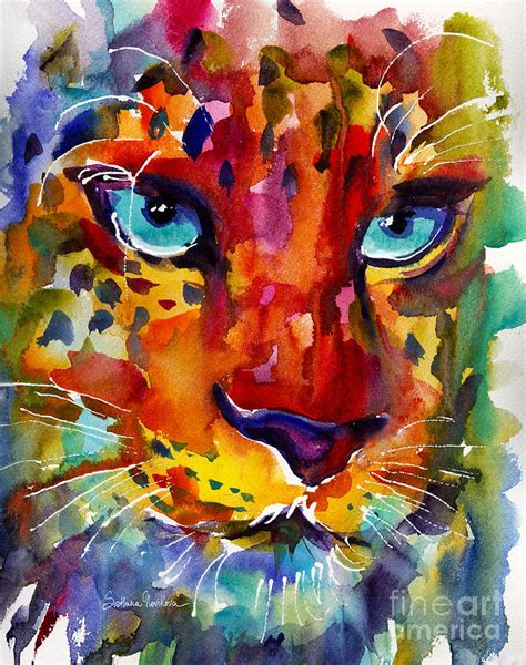 colorful painting colorful watercolor leopard painting painting by svetlana