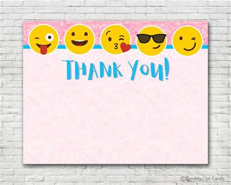 emoji thank you pink sparkles emoji thank you card