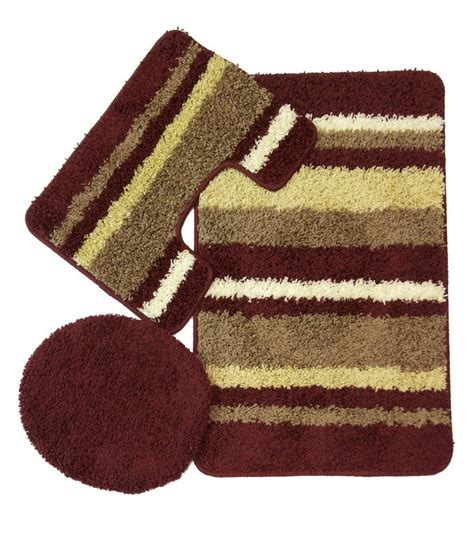 bathroom rug sets avalon 3 bath rug set burgundy moshells