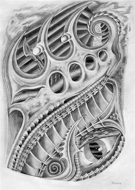 gambar tattoo biomechanical biomechanic art pinterest