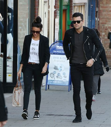 michelle keegan and fiance mark wright sport matching