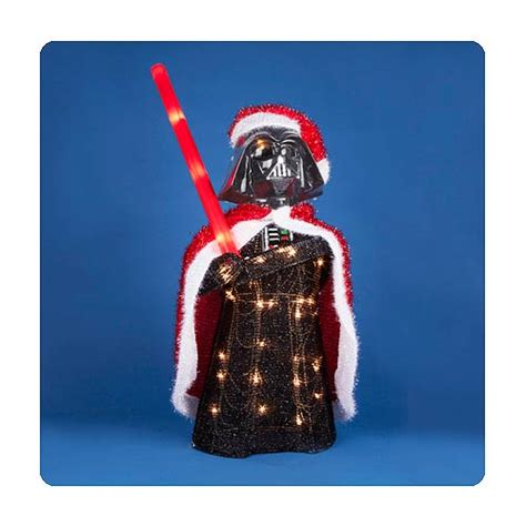 star wars darth vader 28 inch light up tinsel display