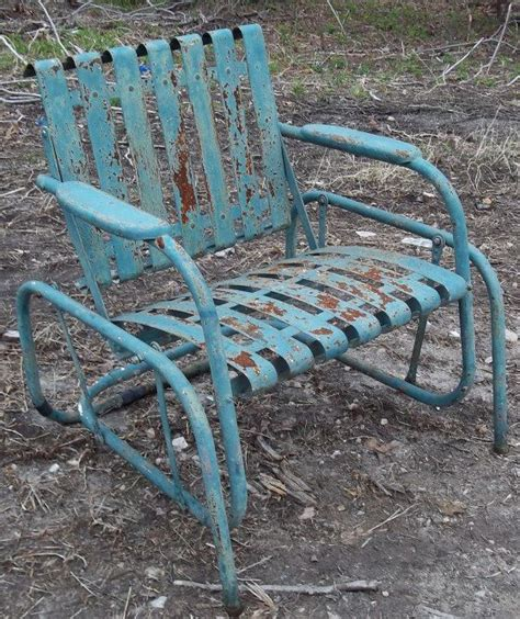 Vintage Glider Chair by Vintage Metal Chair Style