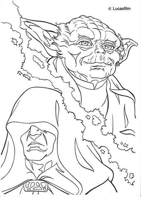 coloriages coloriage star wars de yoda contre l empereur