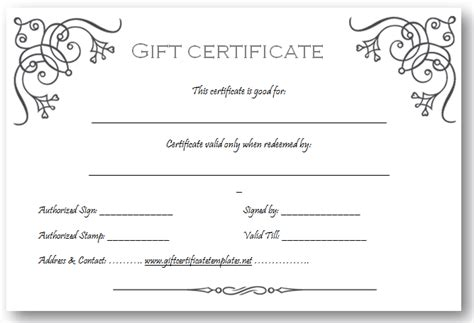 search results for blank gift certificate template