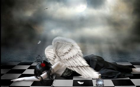 imagenes tristes en 3d dark angel tristeza fondos de pantalla dark angel