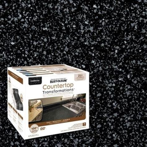 How To Use Rustoleum Countertop Paint by Countertop Transformations Kit Charcoal 30 Sq Ft Kitchen Counter Coating Repair Ebay
