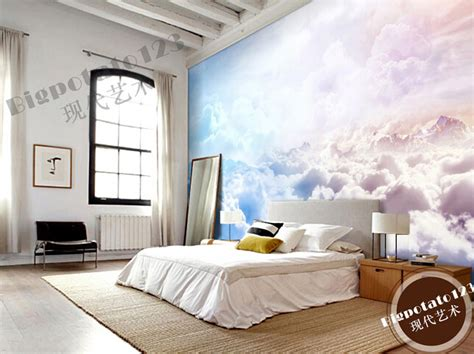 cloud bedroom wallpaper custom natural wallpaper sun sky clouds landscape murals