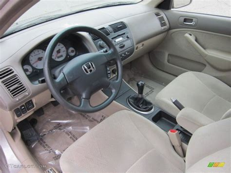 Civic 2002 Interior by Beige Interior 2002 Honda Civic Ex Sedan Photo 54250937