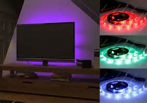 pc led beleuchtung rgb led usb colour changing lighting kit 50cm tv pc