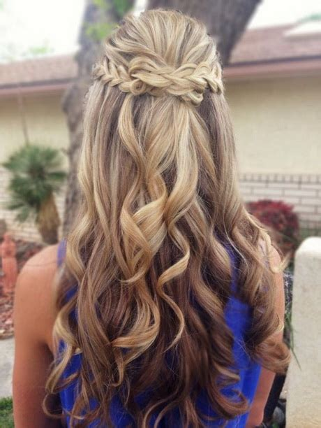 homecoming hairstyles for long hair half up updo hairstyles for prom 2016