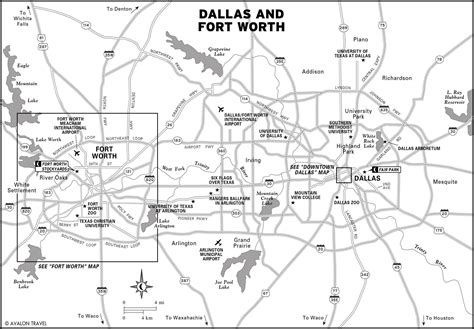 printable map of dfw area ghostly overnights in dallas moon travel guides