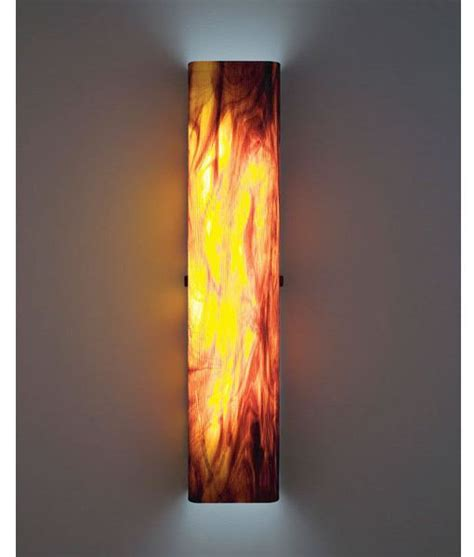 Glass Wall Sconce Light Wpt Channel Glass Wall Sconce Artisan Crafted Lighting