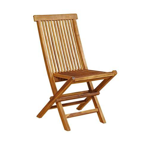 lot de 4 chaises de jardin en teck huil 233 pliables et de