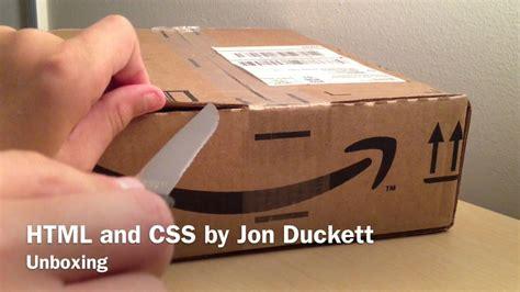 web design with html jon duckett unboxing html and css by jon duckett youtube