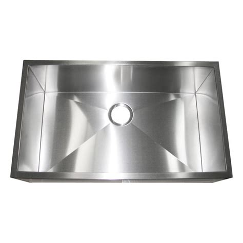 apron front single bowl kitchen 32 inch stainless steel flat front farm apron single bowl
