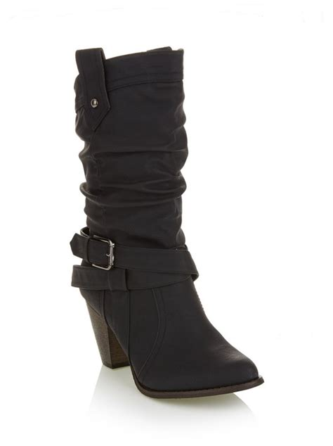 Boots Rage Black rage western boots with buckle black n12l6l7 spree co za