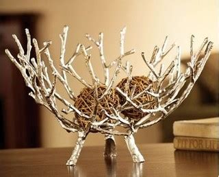 twig home decor silver twig bowl eclectic home decor by black forest