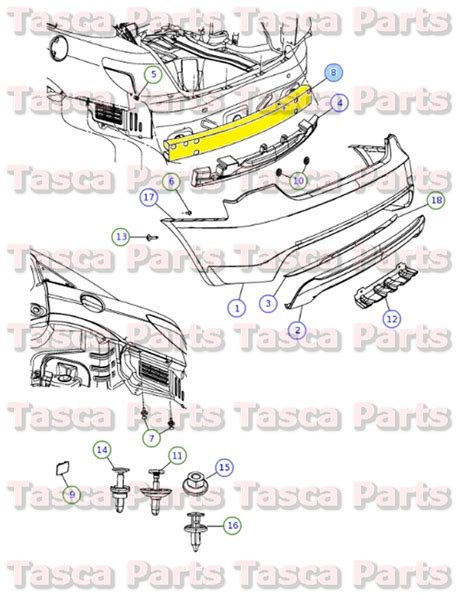 chrysler sebring 200 and dodge avenger 2007 thru 2014 all models haynes repair manual oem rear bumper reinforcement 2007 2013 dodge avenger chrysler sebring 200 sedan